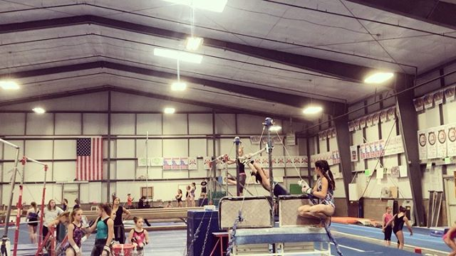 We've got Rachel (level 9) who made her blind half on pit bar! Melissa (level 8) with her free hip handstand! Melanie (level 8) with back handspring, back handspring connection and round-off, tuck dismount one high beam! Jordyn (level 5) got her round-off, punch on high beam, Marleigh and Maddison (level 3's) got their cartwheel's on low beam! Melanie also got her yurchenko tuck on pit vault to a hard landing! Mia (level 3) got her round-off, back handspring, back tuck on tumble track! And Alta (level 3) got her standing back tuck on floor! Holy smokes girls, keep up the amazing work! 💖🎉 #danikgymnastics #danikgirlsteam #workhardplayhard #cantstopwontstop