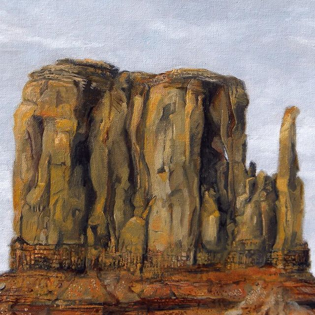 "Monument Valley, 14""x11"" oil on canvas"