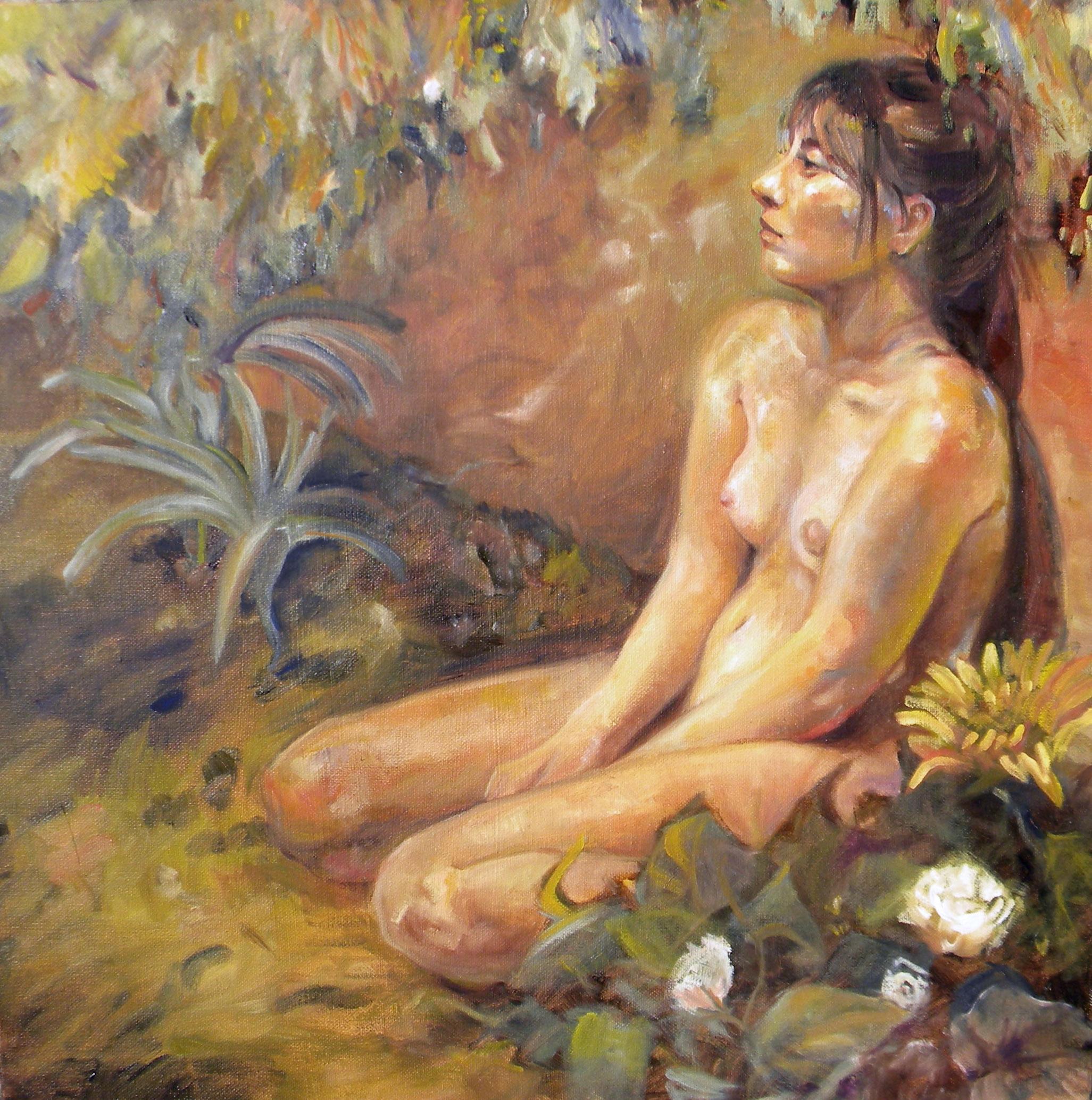 """Garden"" 20""x20"" Oil on Canvas, 2018"
