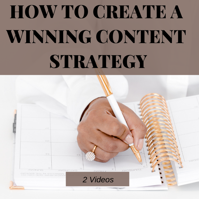 How To Create A Winning Content Strategy   Two video lessons that will help you understand how to leverage the power of influencer strategy in online content creation for your business.