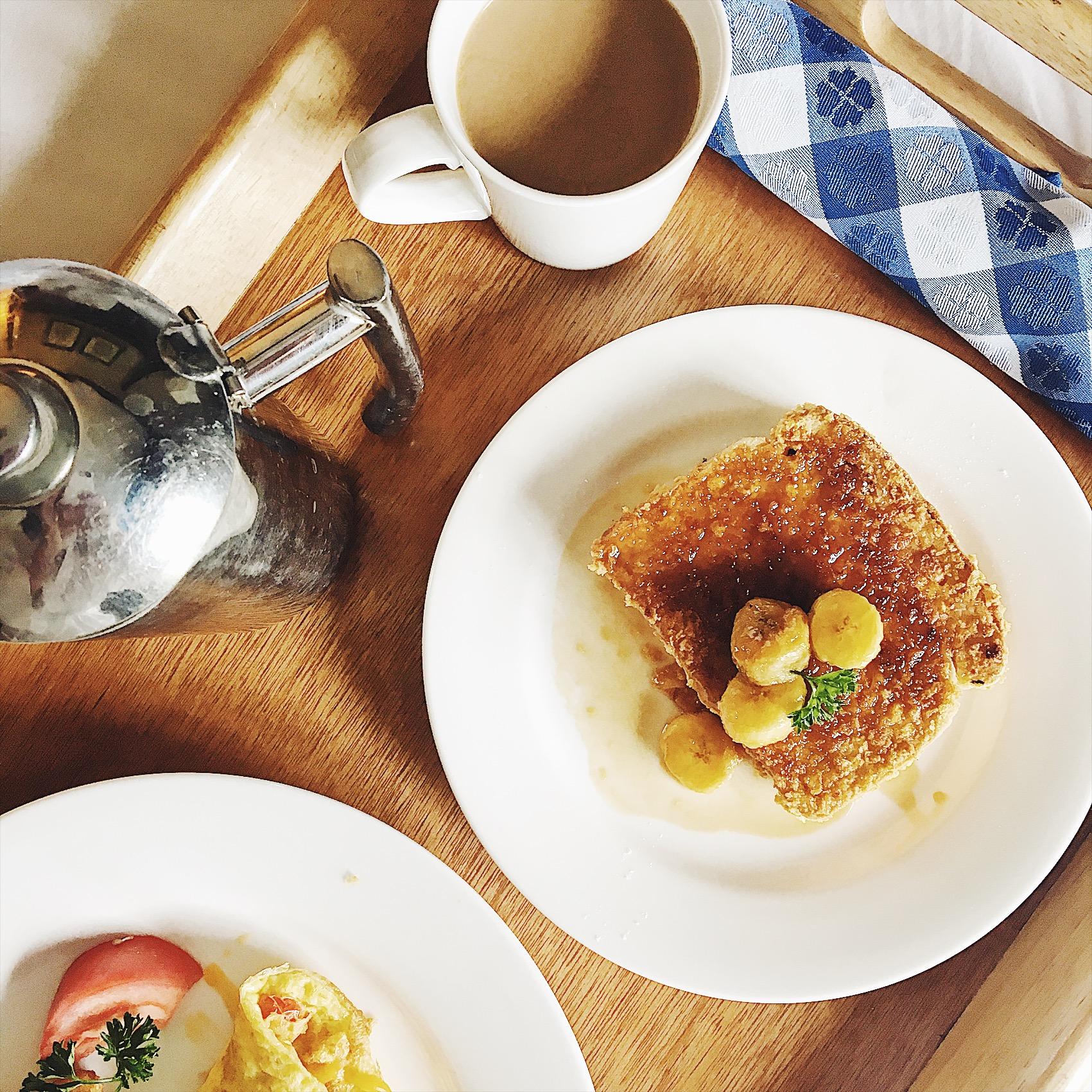 Breakfast in bed. Yes, please!