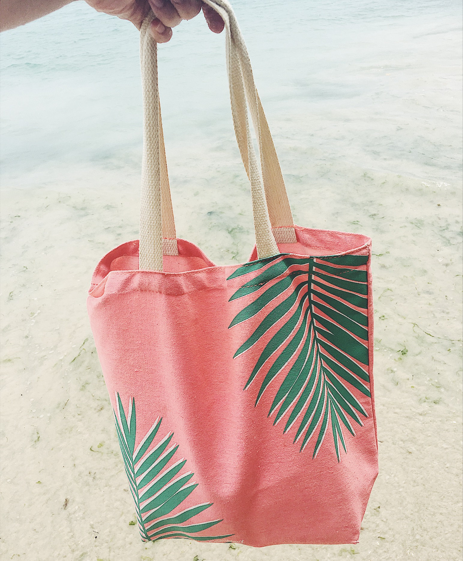 Canvas tote bag from Old Navy. Exact print sold out, but some other great summer options below! Most are less than $10 and perfect for the beach or pool!