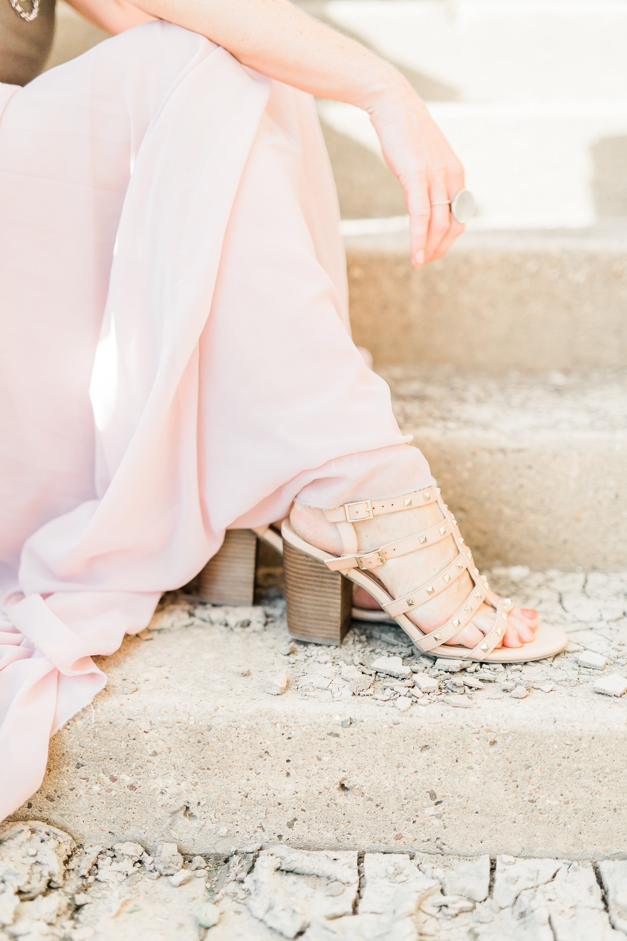 valentino dupes, pink maxi skirt, target shoes