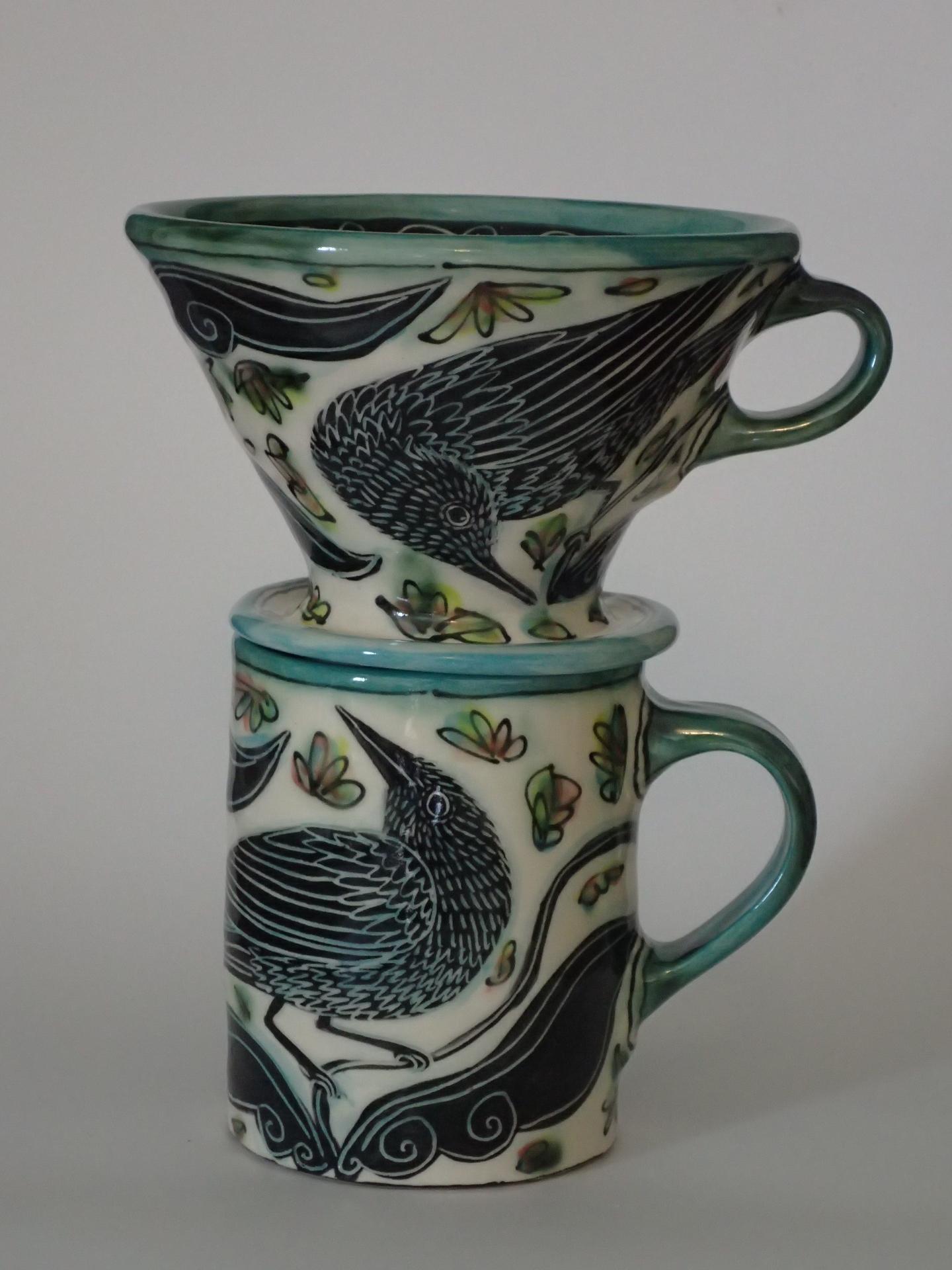 Bird Coffee Mug and Filter - Debra Kuzyk/Ray Mackie