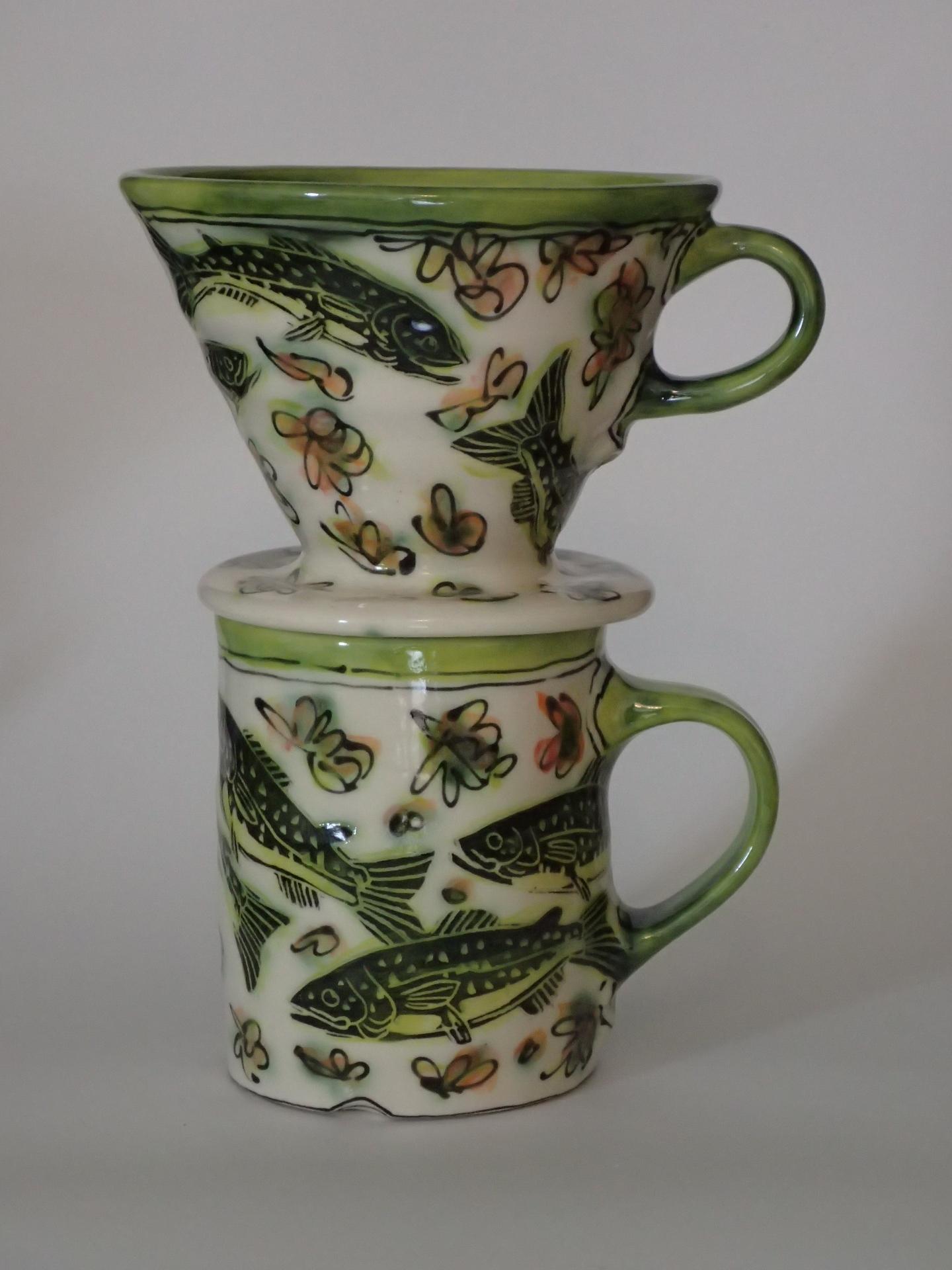 Fish Coffee Mug and Filter - Debra Kuzyk/Ray Mackie