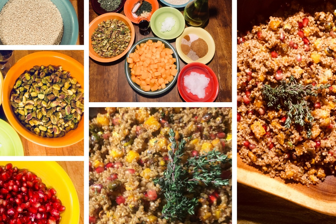 quinoa and squash salad - This recipe may seem daunting at first since you must make three separate items, but it is really very simple.