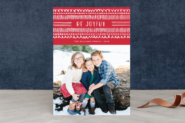 Dot and Dash holiday photo card