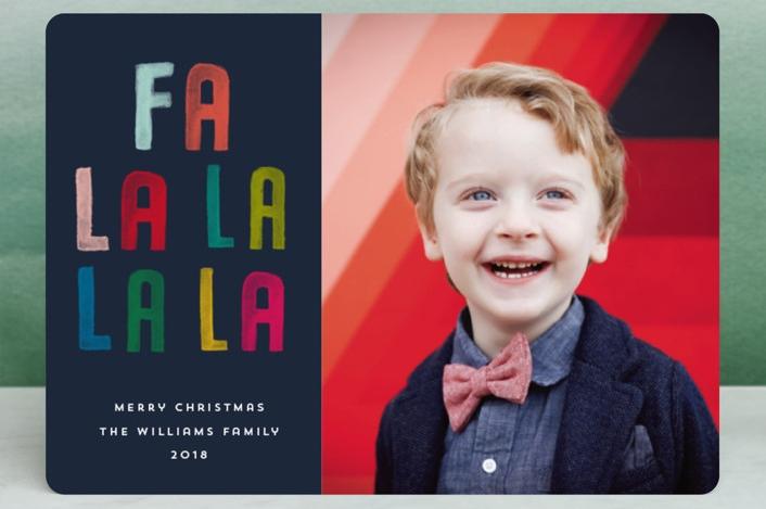 Fa La La La La holiday photo card