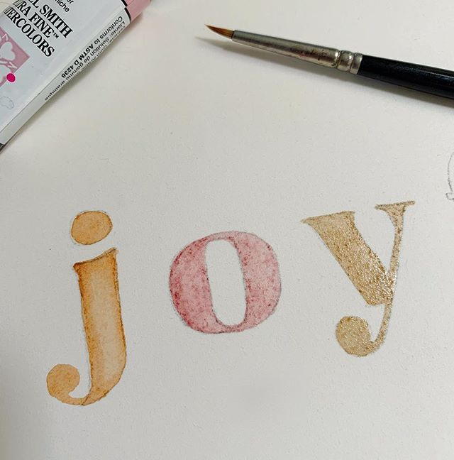 Kinda obsessed with this color combo right now. Also the way hand painted type looks. #notverychristmasy #wip #mintedartist #minted #mintedholiday #joy