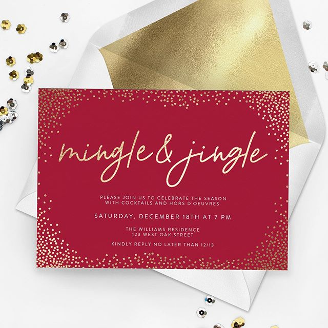 "New holiday party invite at @greenvelope! This one is called ""Glitter Jingle"". Greenvelope is an elevated online stationery company. They offer beautiful designs and excellent service. @beijosevents #gvholiday2019 #ecofriendly"