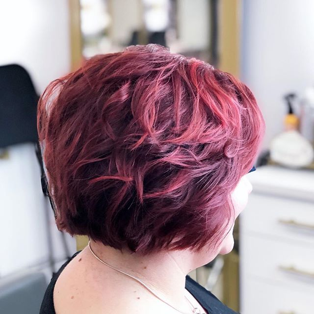 Can I say this is amazing? I am in love with this red! #scottsdalehair #moxiescottsdale