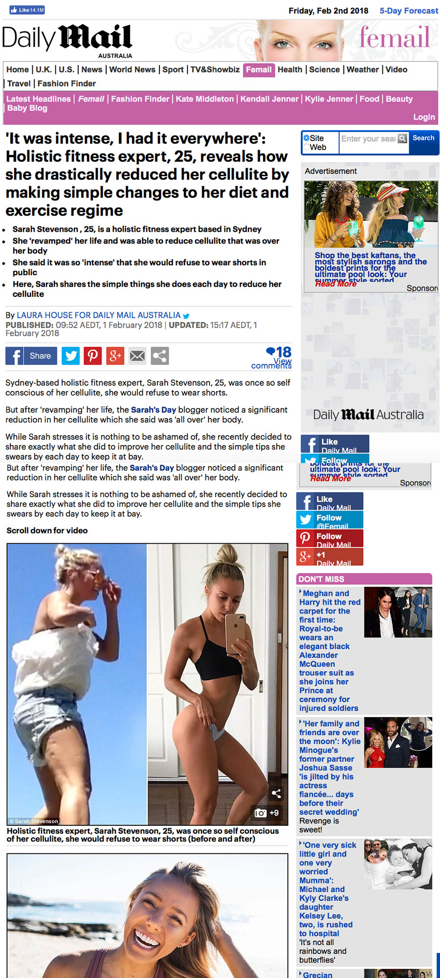 Daily Mail - How I reduced my cellulite!