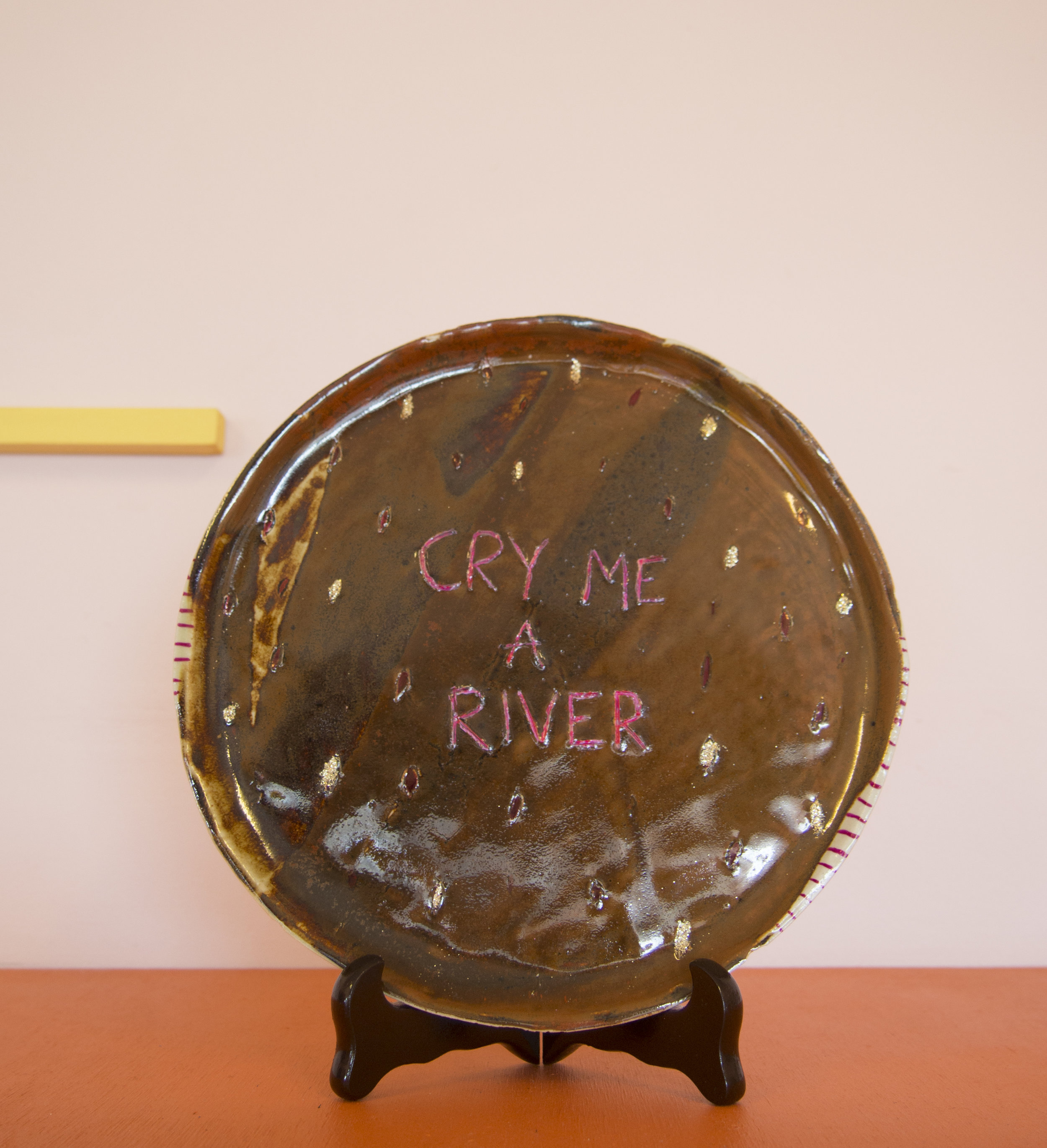 Glitter in the Room    Molly Cook   earthenware, texta, glitter, acrylic paint