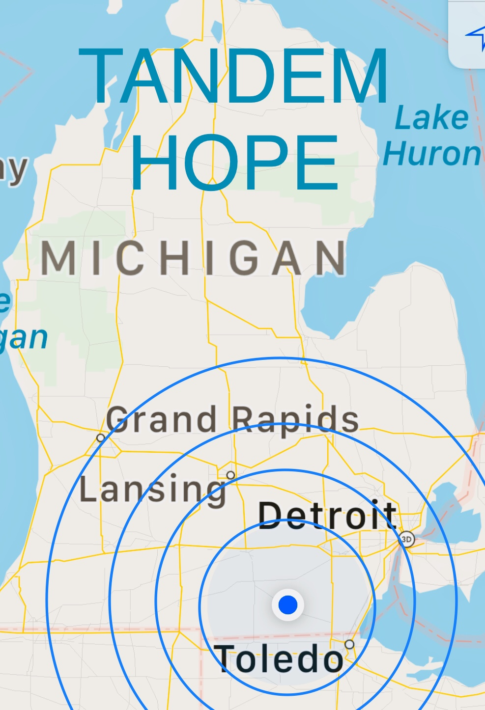 TANDEM HOPE - is stationed within Lenawee County & serves the Tri-State Area (MI, OH, IN).
