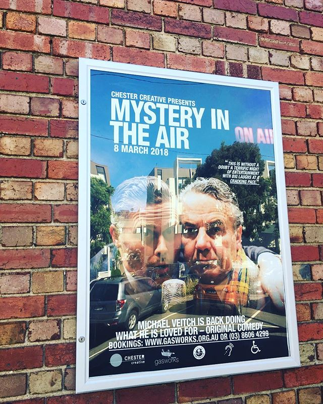 Poster is up and on the front of @gasworksartspark so I guess I that means it's really happening!! . Thursday March 8th @gasworksartspark Ticket link in bio - GO THERE! . #mita #mysteryintheair #michaelveitch #simonoats