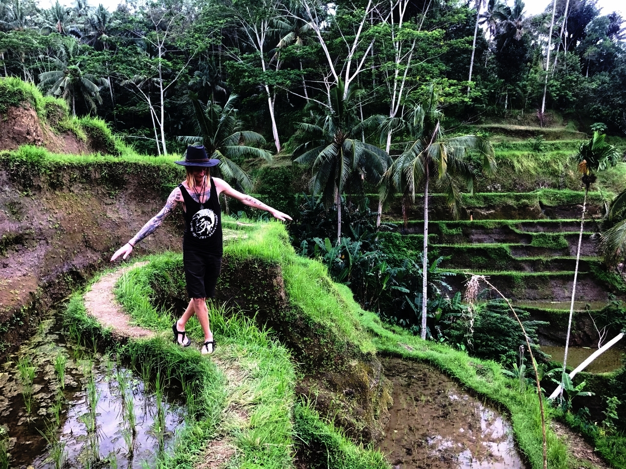 Balance Tegallalang Rice Terrace Ubud Bali