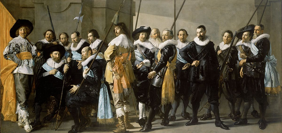 The  Meagre Company  , an Amsterdam  militia group portrait  or  schutterstuk  by  Frans Hals  and  Pieter Codde  (1633-37)