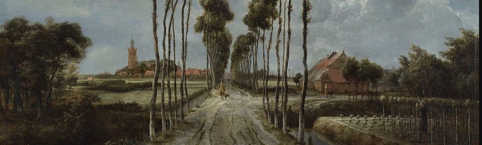 The Avenue at Middelharnis   by Meindert Hobbema.