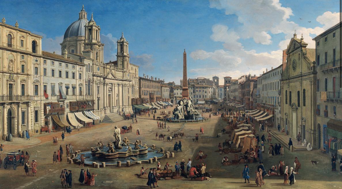 Gaspar van Wittel Piazza Navona, Rome 1699