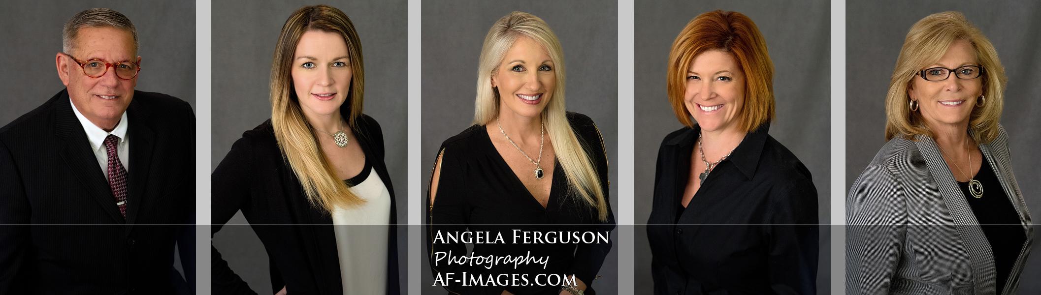 Composite of employee headshots.  Akers Business Solutions , Glen Burnie, MD. Copyright 2017, Angela Ferguson Photography.