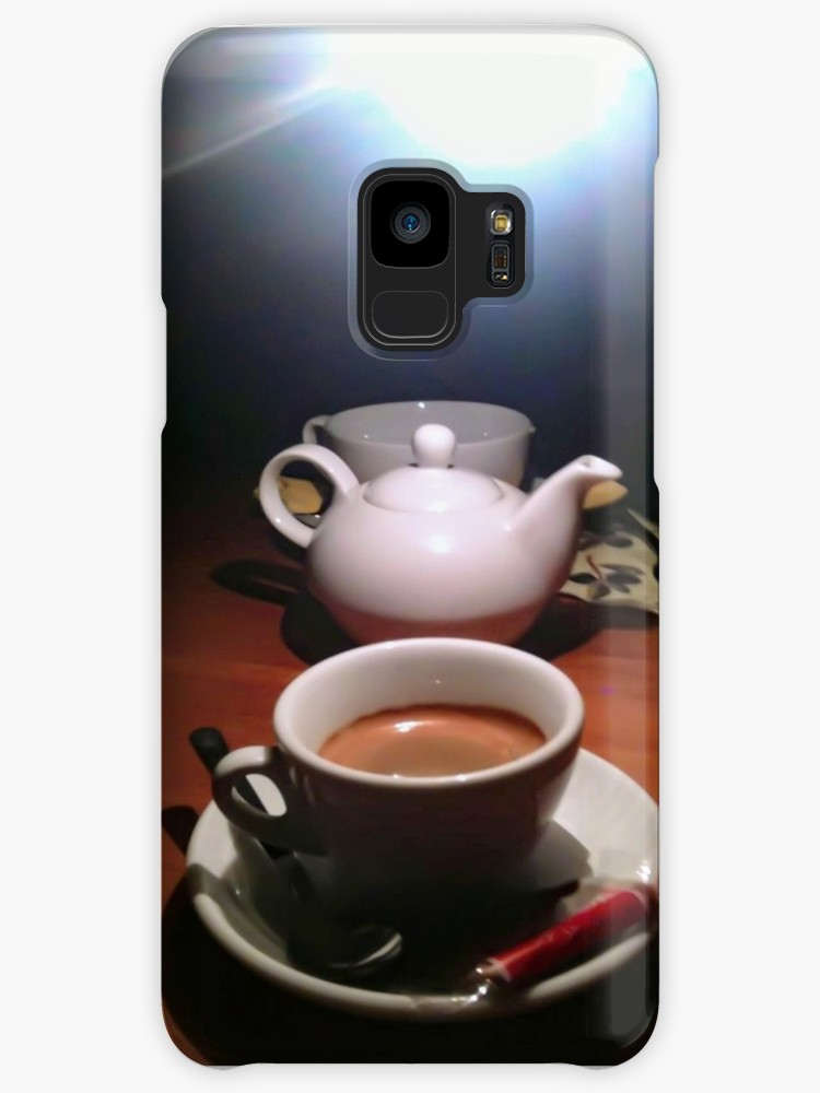 """ Coffee cup and tea pot"", Samsung Galaxy S9 case"