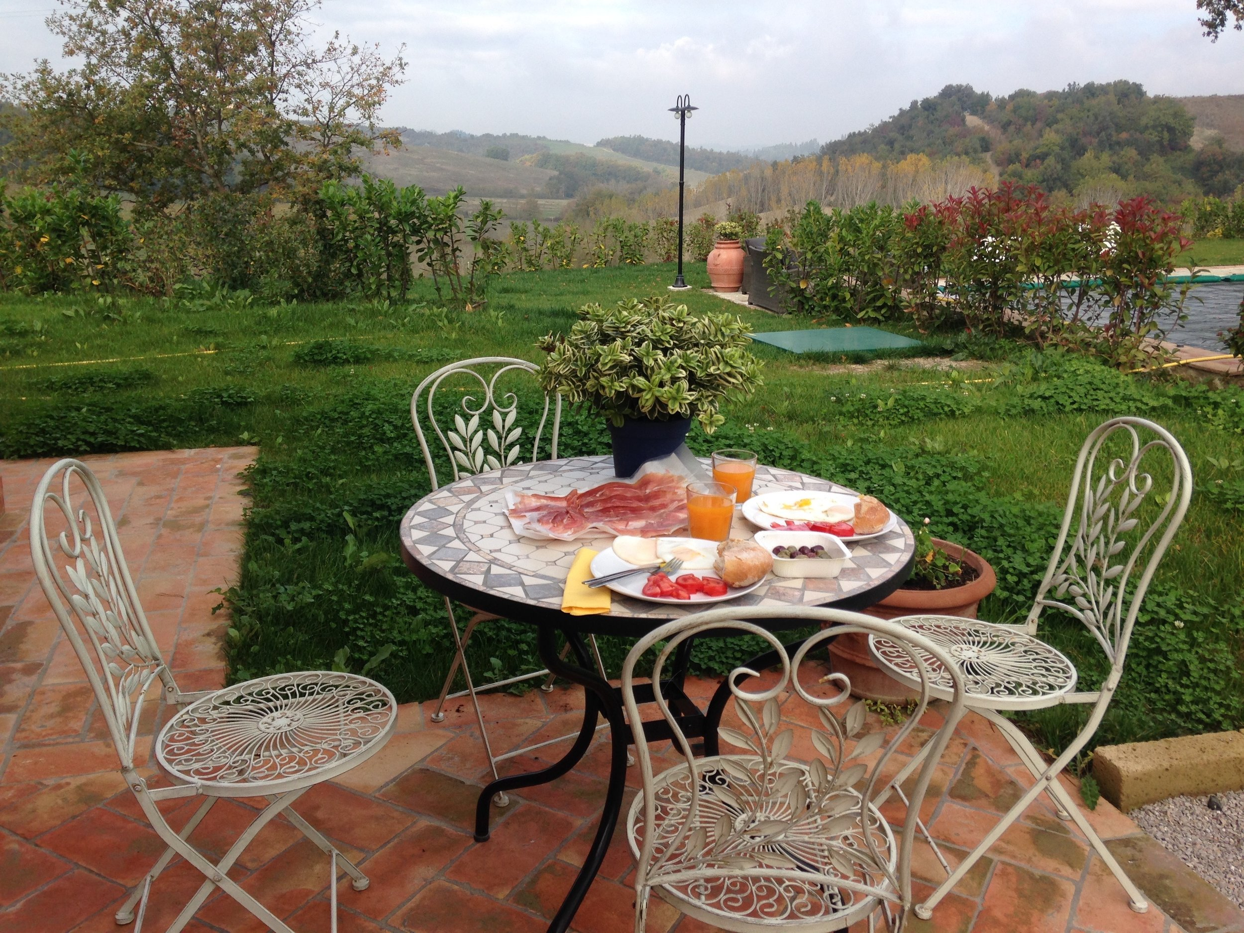 Breakfast at Agriturismo Maramaldo