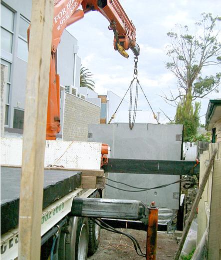 Concrete basement car park construction - Melbourne