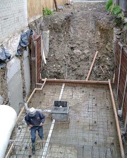 Concrete basement car park construction - Richmond