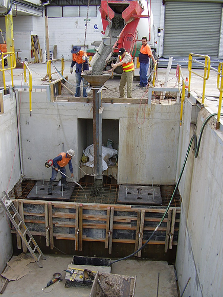 Concrete foundation pit for Melbourne Manufacturer