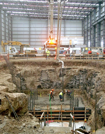 Excavation and prep for new metal slitting and cropping line machine Melbourne