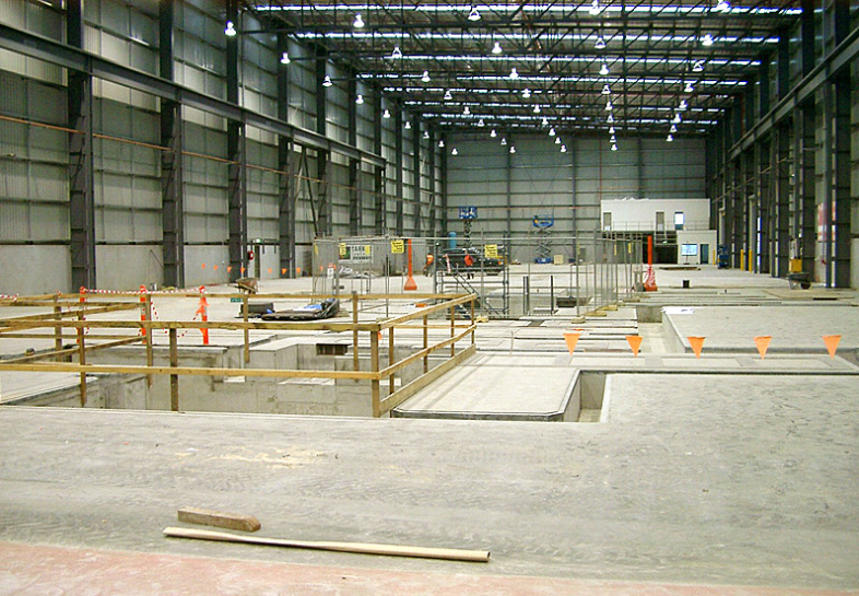 Concrete Factory Floor - Ready For New Machine