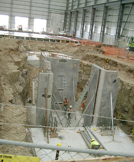 Concrete foundation for Toyota Melbourne