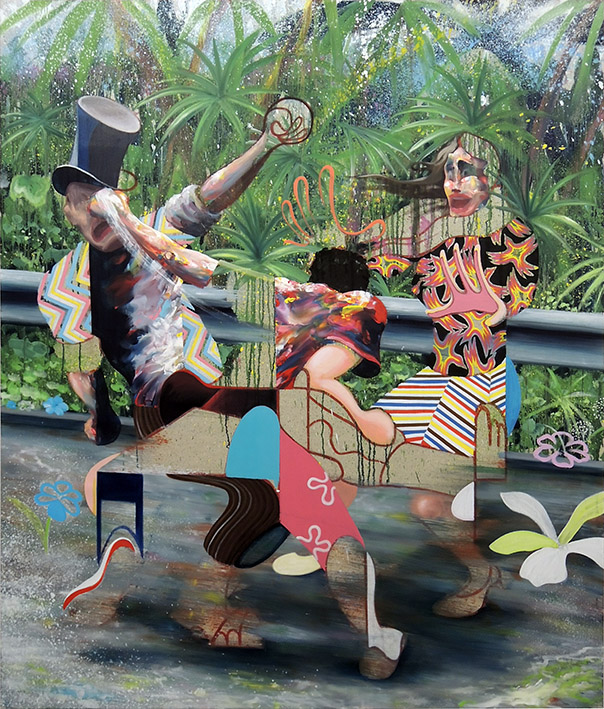 « La mauvaise réciprocité » - 2019, huile sur toile, 200 x 170 cm