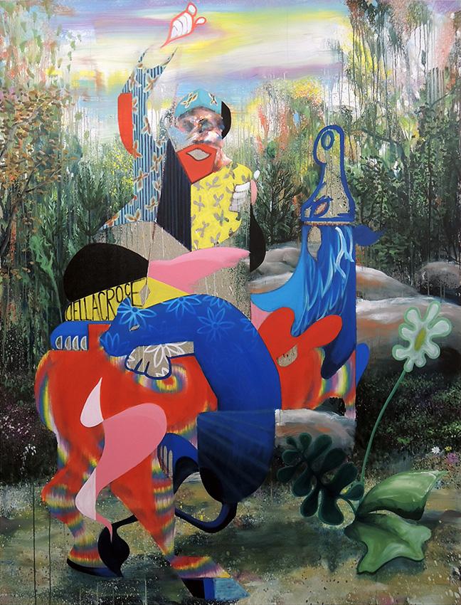 « Dellacroce » - 2018, huile sur toile, 210 x 170 cm