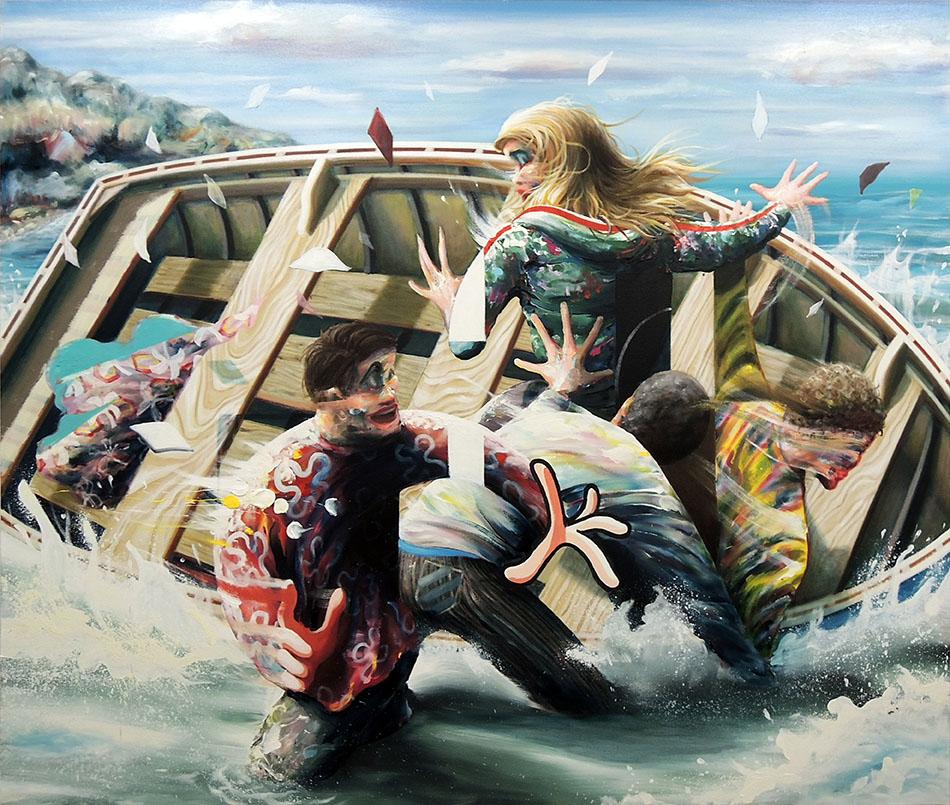 « Benvenuti » - 2018, huile sur toile, 170 x 200 cm