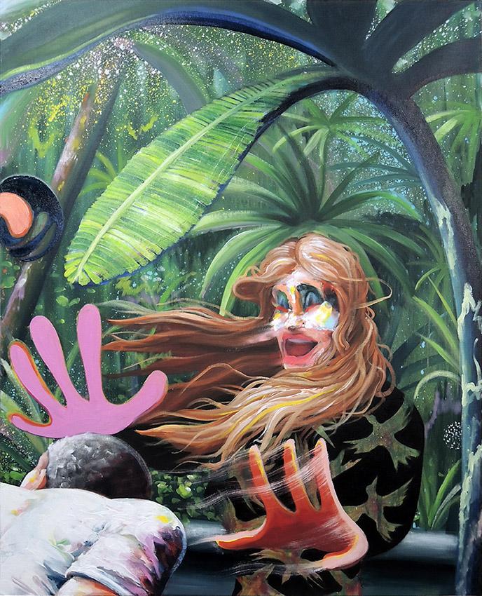 « Etude pour La mauvaise réciprocité » - 2019, huile sur toile, 100 x 81 cm