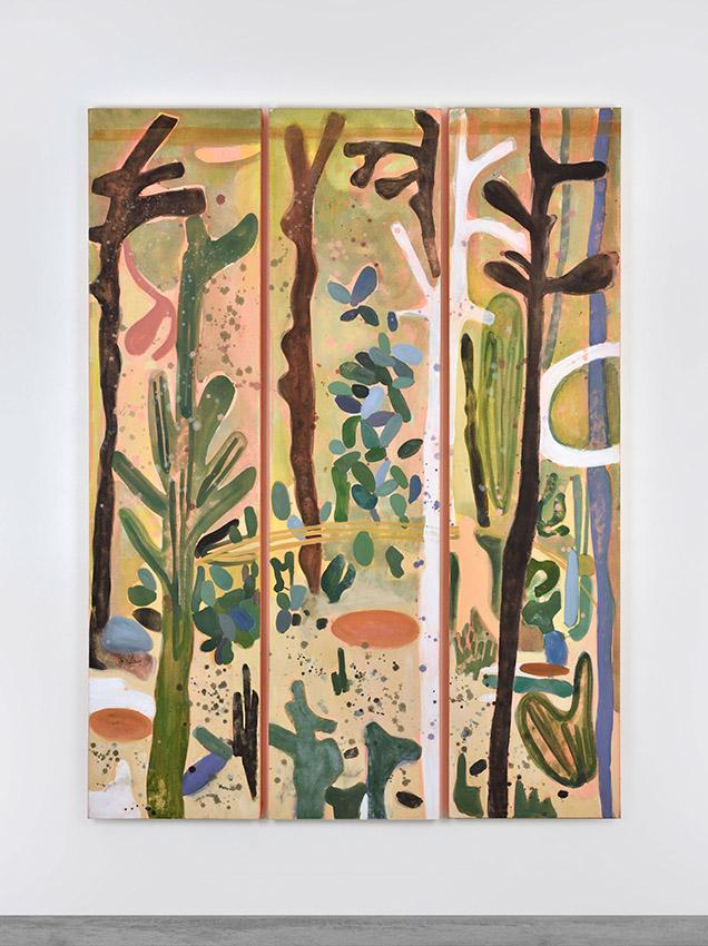 Eclats sauvages,  triptyque sur toile 186,5 x 135 cm, 2018