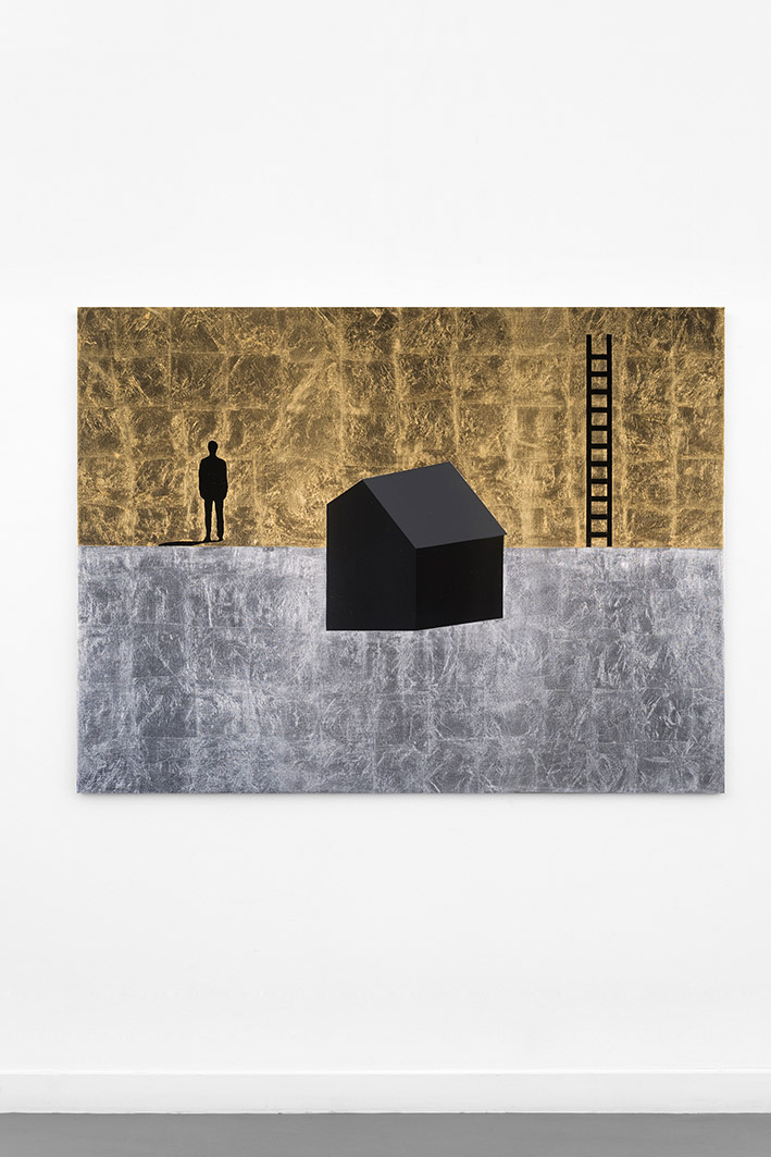 JACOB'S LADDER.  2013. mixed media on canvas. 114 X 146 cm