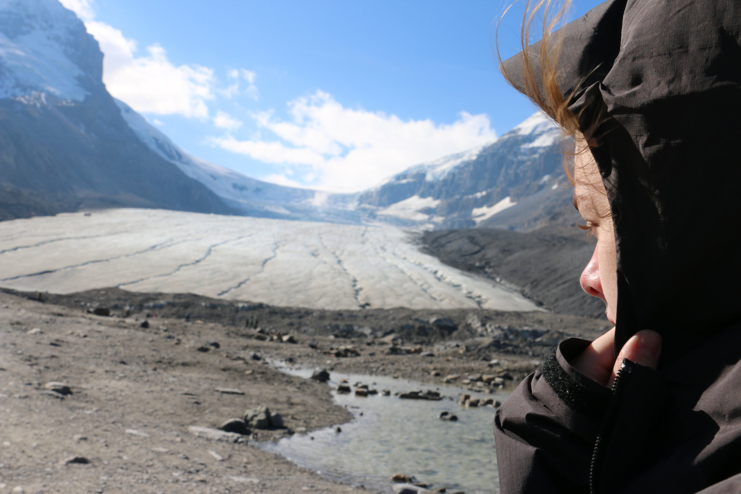 Visiting a glacier in the ice-fields