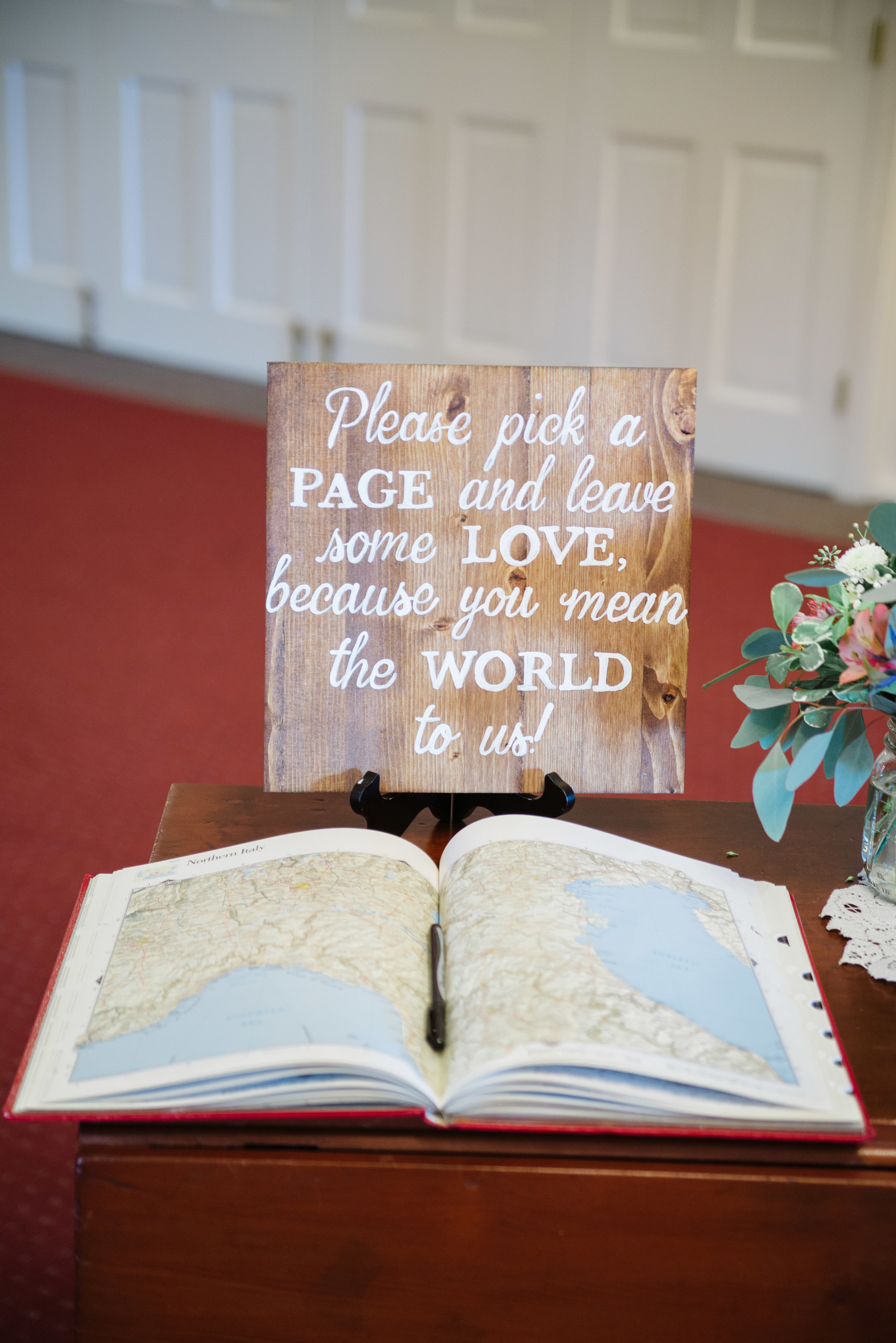 Our guest book was an atlas