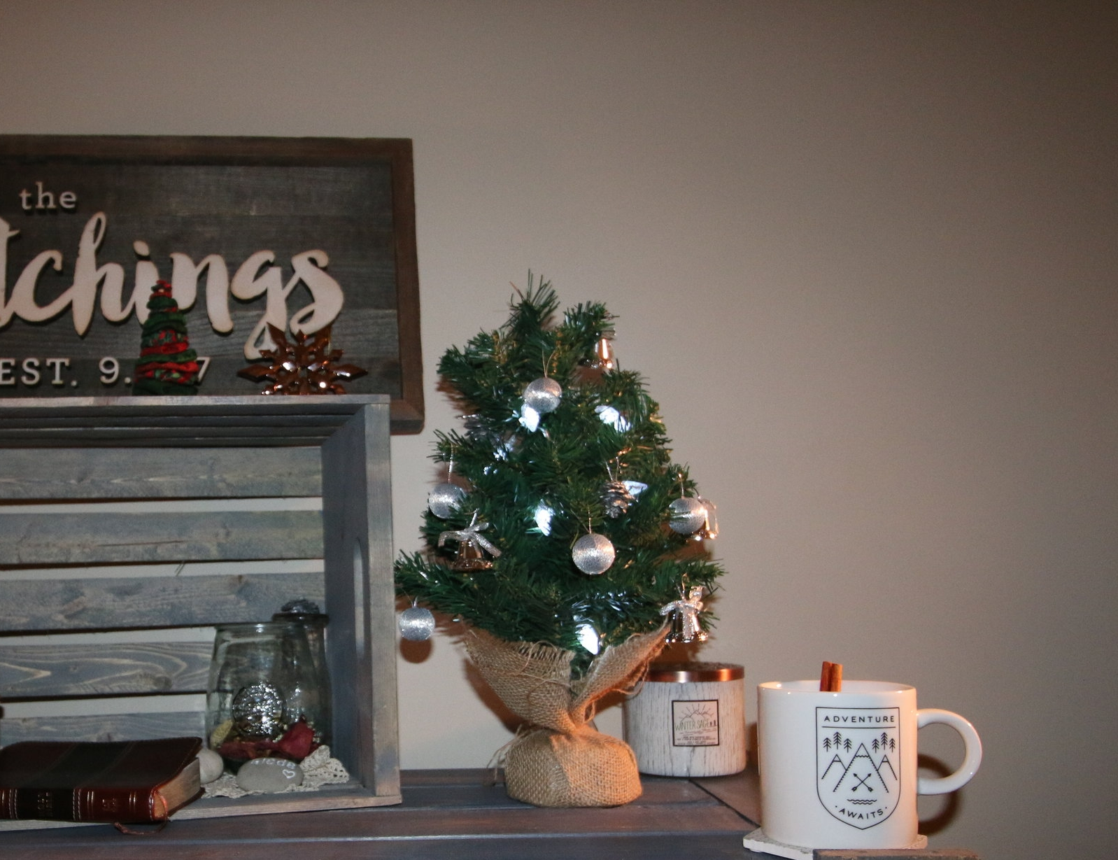 This little tree helps make our place festive (it also looks better in real life ;))