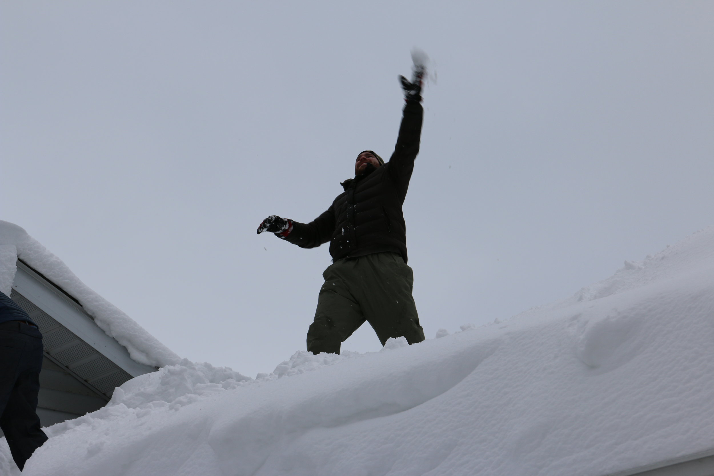 Snow throwing