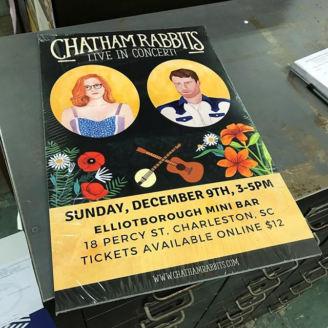 Helping our friends @chatham_rabbits with some marketing. This concert is gonna be SO great!  Y'all get some tickets!  December 9th, 3-5pm @elliotboroughminibar . . #FolkMusic #Bluegrass #OldTime  Tickets at Chatham Rabbits website.