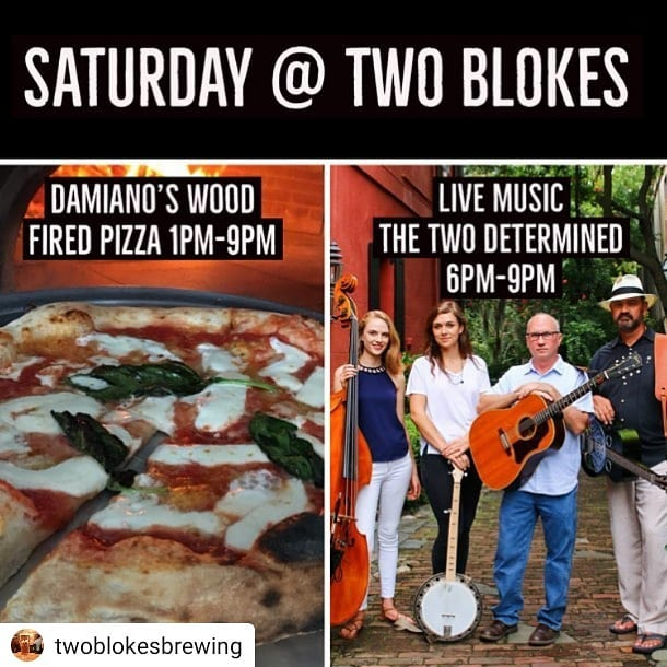 Playing @twoblokesbrewing in Mt. Pleasant tonight. 6-9pm. @damianoswoodfiredpizza is there all day too! Come join us for some tunes, brews, and 'za.