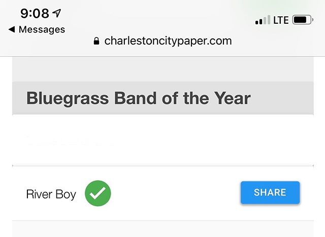 It's quick and easy to vote, friends!  Link in Bio.  #Bluegrass  #charlestoncitypaper