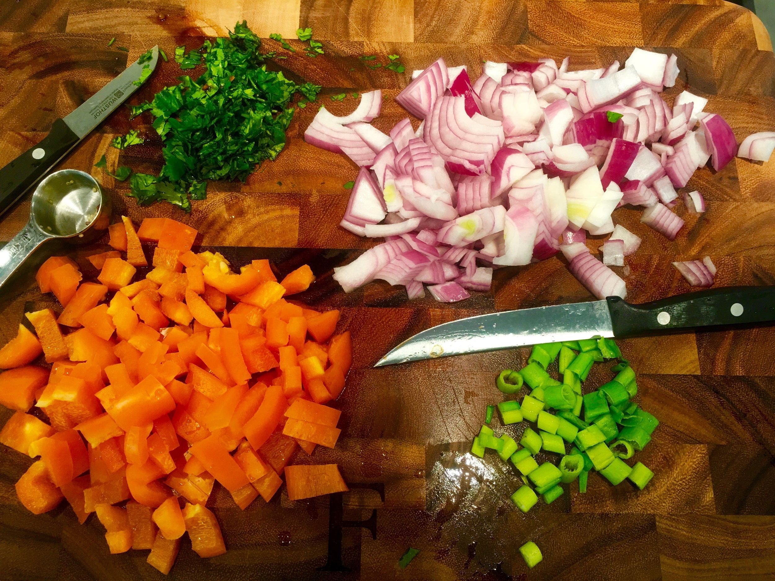 Quinoa Salad Prep