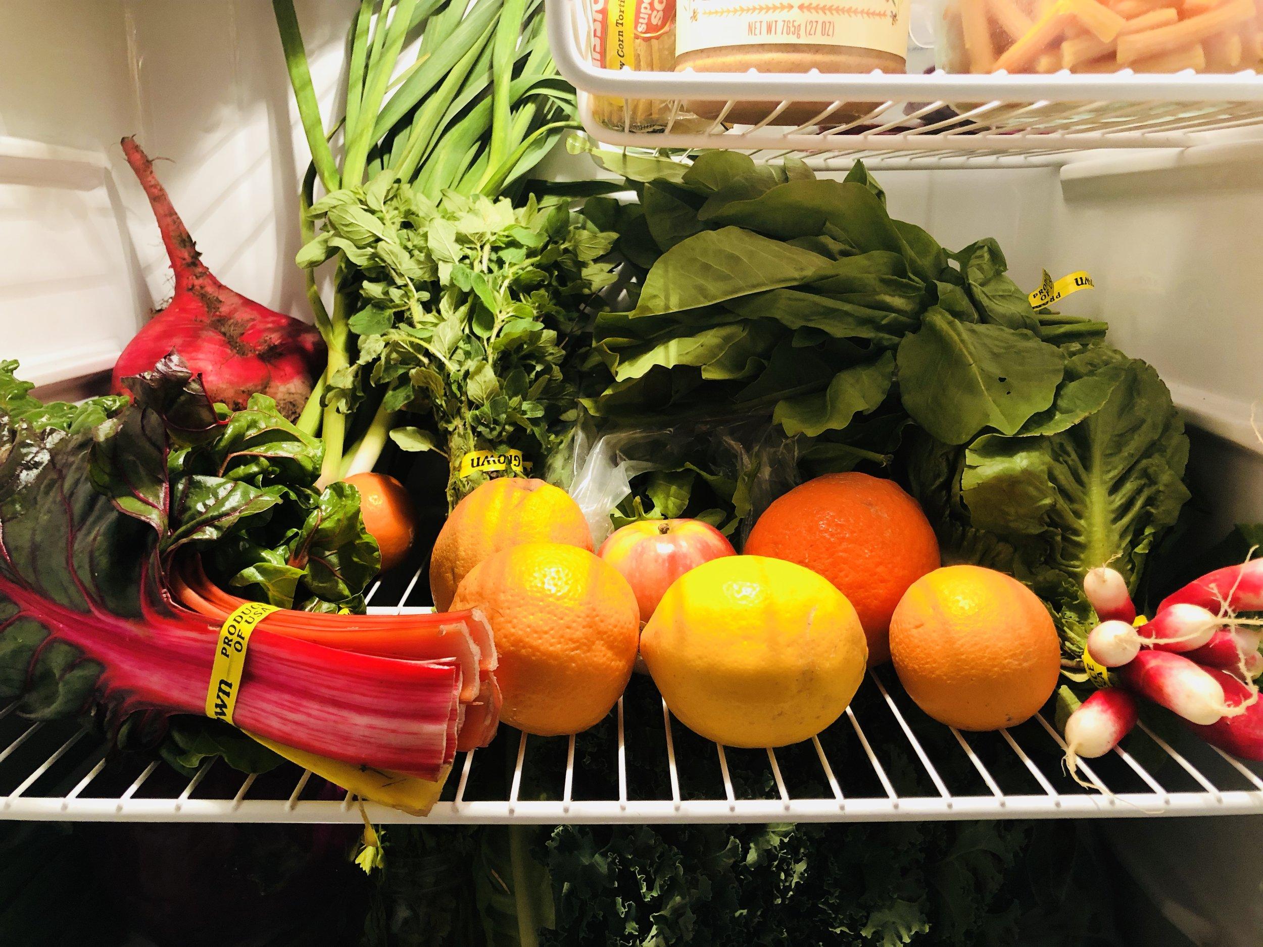 Tara Firm Farms review produce in my fridge.