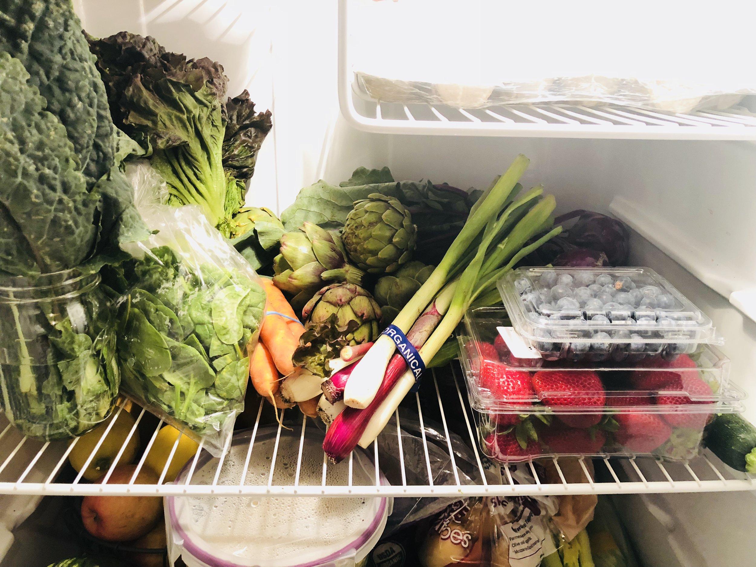 The produce in my fridge.