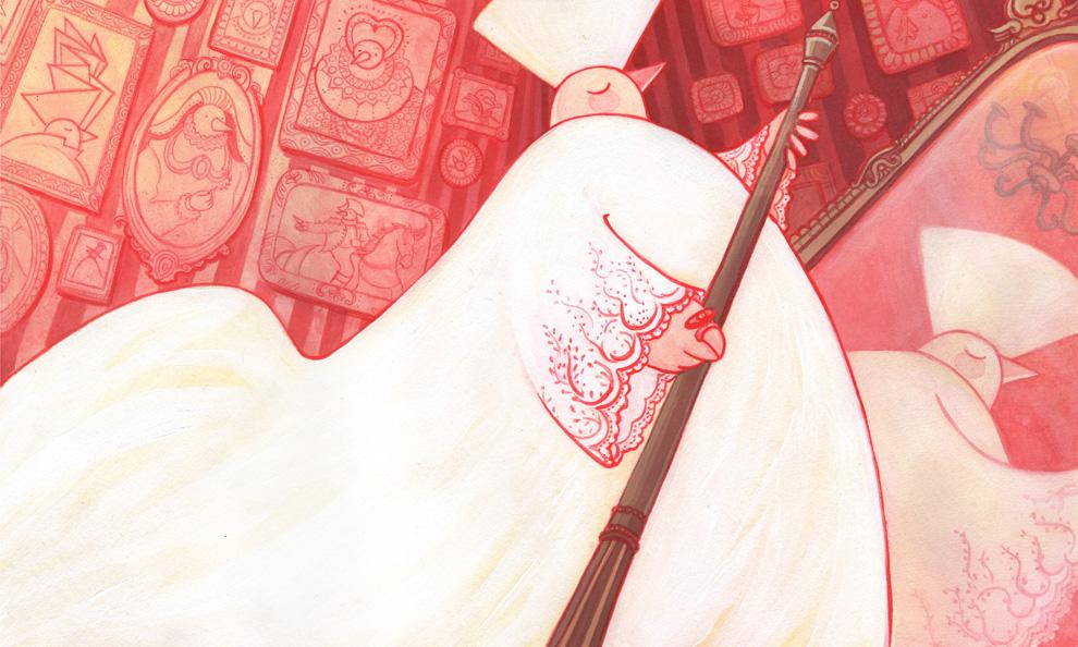"""Hans Christian Andersen's tale """"The Emperor's New Clothes""""  """"El traje nuevo del Emperador"""", de Hans Christian Andersen."""
