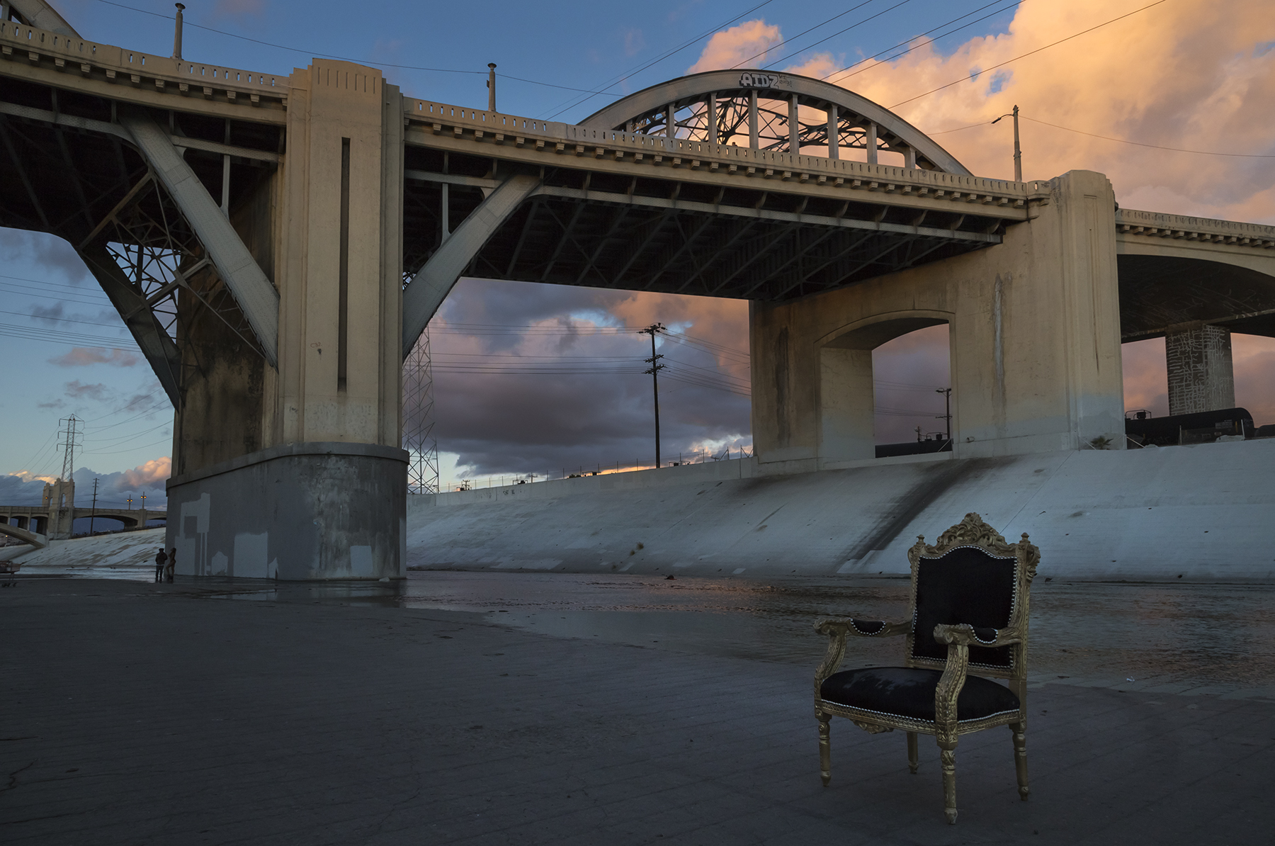 6th Street Viaduct - from LA Riverbed, 2015.11.15.04